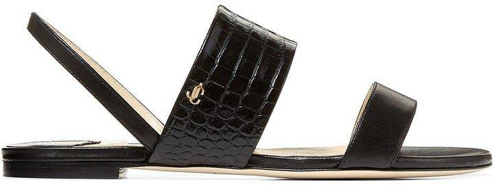Seia embossed slingback sandals