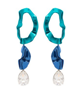 Sterling King Inside Out drop earrings - FARFETCH