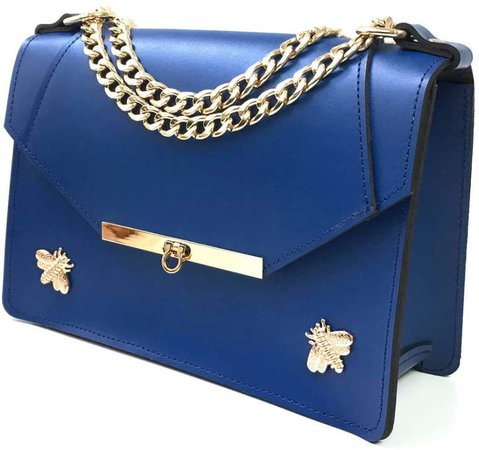 Angela Valentine Handbags Gavi Shoulder Bag in Royal Blue