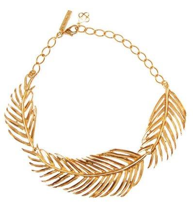 Palm Leaf Necklace | Oscar de la Renta - mytheresa.com