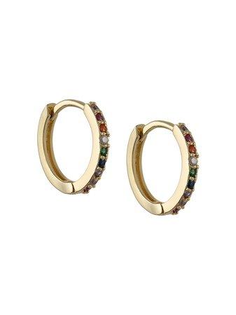 Nialaya Jewelry Mini Rainbow Hoop Earrings - Farfetch