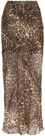 Ella leopard print maxi skirt