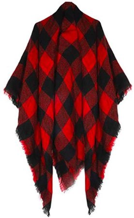 Amazon.com: Women's Plaid Blanket Scarf Wrap Stripe Shawl Checked Scarves Tartan Pashmina Cape: Clothing