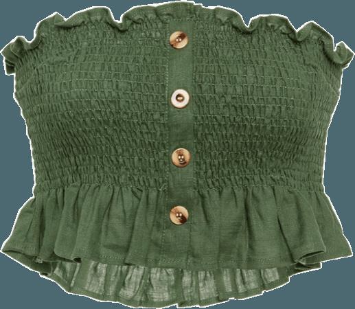 crop top tops shirt shirts green freetoedit...