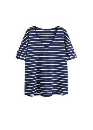 Violeta BY MANGO Buttons organic cotton t-shirt