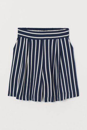 Shorts High Waist - Blue