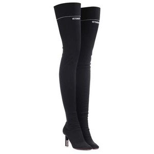 Stretch-jersey over-the-knee boots