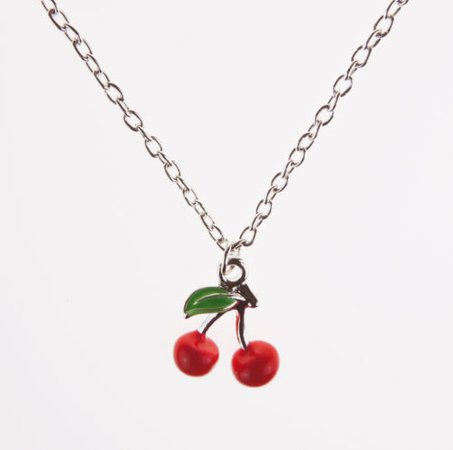 Cherry Necklace Retro 50s Kitsch Fruit Rockabilly Vintage Burlesque Jewellery | eBay