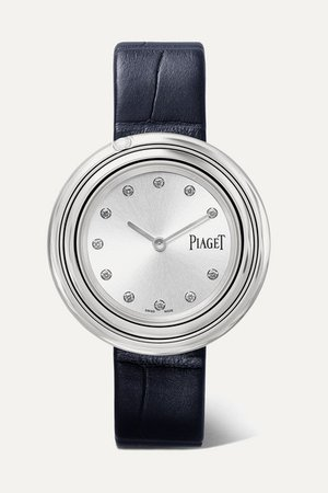 Piaget | Possession 34mm stainless steel, alligator and diamond watch | NET-A-PORTER.COM
