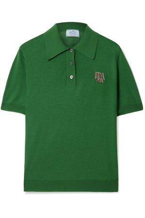Prada | Intarsia wool polo shirt | NET-A-PORTER.COM