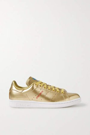 Stan Smith Metallic Leather Sneakers - Gold
