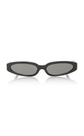 Linda Farrow Jardine Acetate Rectangle-Frame Sunglasses