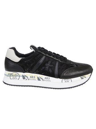 Black Nylon Sneakers