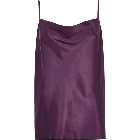 Purple cowl neck cami top - Cami / Sleeveless Tops - Tops - women