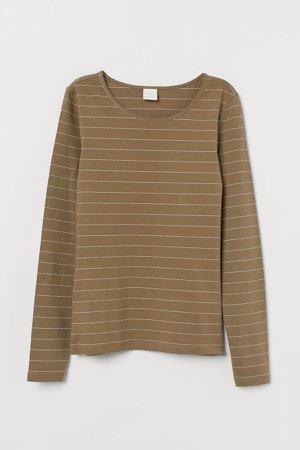 Long-sleeved Jersey Top - Green