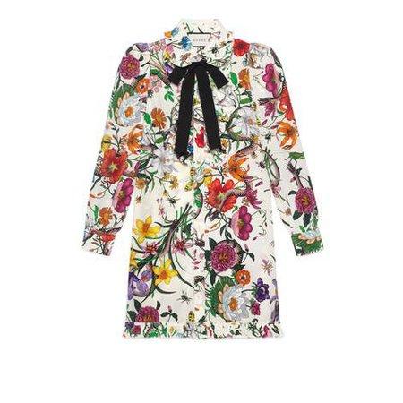 Flora Snake print dress - Gucci Women's Dresses 476100ZJP719441