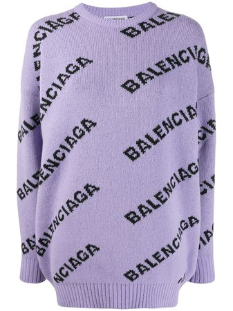 Balenciaga Logo Detail Jumper | Farfetch.com