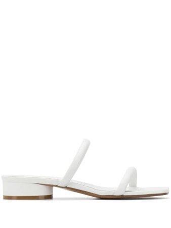 Maison Margiela Flat Leather Sandals - Farfetch