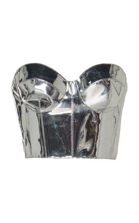 Metallic Corset PVC Top by RalphRusso