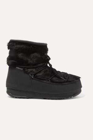 Monaco Rubber And Faux Fur Snow Boots - Black