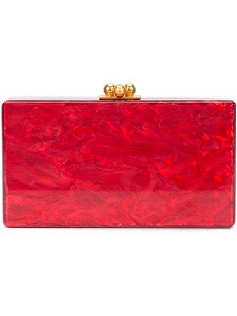 Edie Parker Marbled-Effect Clutch Bag Aw19 | Farfetch.com