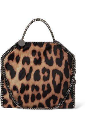 Stella McCartney   The Falabella small leopard-print faux suede tote   NET-A-PORTER.COM