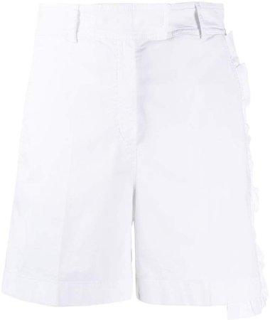 high-waisted ruffled shorts
