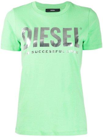 Diesel Pvc Lettering And Slogan T-Shirt | Farfetch.com