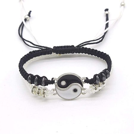 Amazon.com: 2 Pcs Matching Yin Yang Bracelet Set Dainty Tai Chi Hand Woven Bracelet Set Adjustable Cord Bracelet Best Friend Bracelets for Women Girls Friendship Jewelry: Clothing