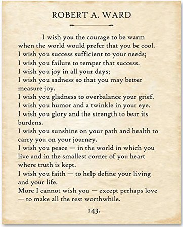 Robert Ward - I Wish You... - 11x14 Unframed Typography Book Page Print - Great Gift for Book Lovers