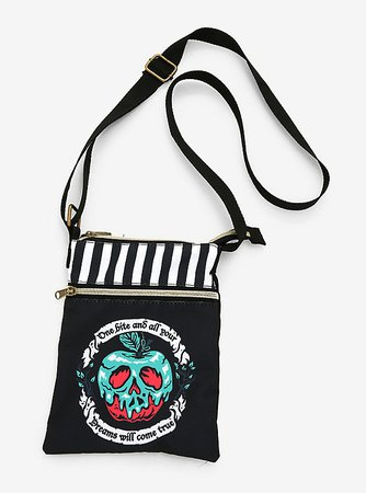 Loungefly Disney Villains Poison Apple Passport Crossbody Bag