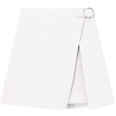 Ring Buckle Faux Wrap Mini Skirt ($25)