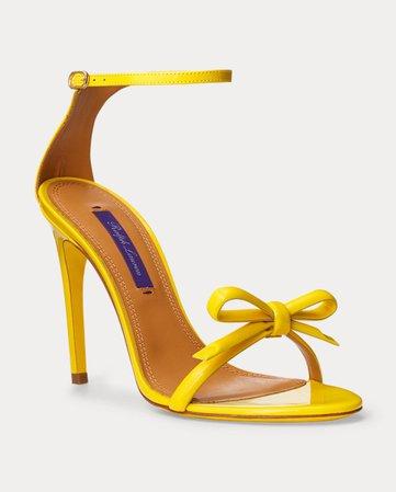 Ralph Lauren Jennefer Bow Patent Sandal