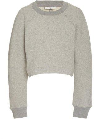 Tibi Cotton Cropped Sweatshirt