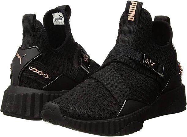 Amazon.com   PUMA x Selena Gomez Defy Mid Women's Shoe, Puma Black-Rose Gold, 8 M US   Fashion Sneakers