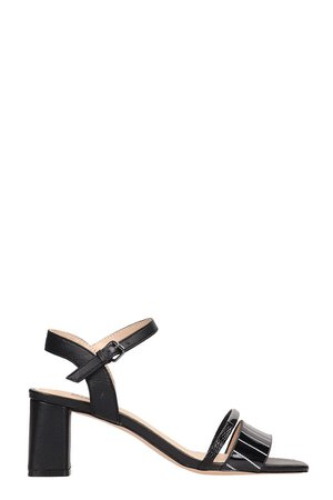 Bibi Lou Black Patent Leather Sandals
