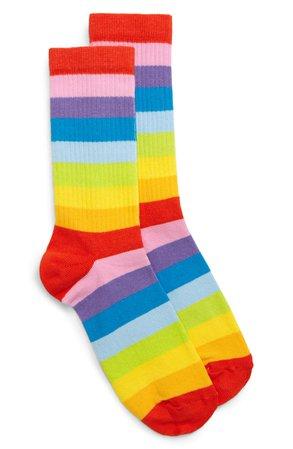 BP. Be Proud by BP. Rainbow Stripe Ankle Socks | Nordstrom
