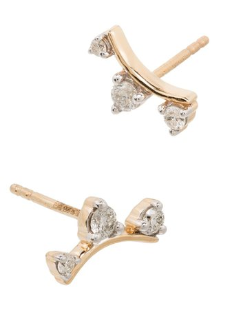 Adina Reyter Amigos 14-karat gold diamond earrings gold E538TDCAY14 - Farfetch