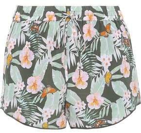 Sabia Floral-print Silk Crepe De Chine Shorts