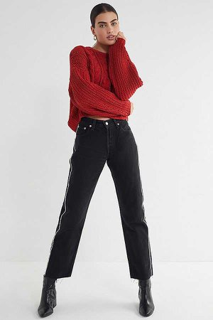 UO Lily Chenille Cable Knit Sweater