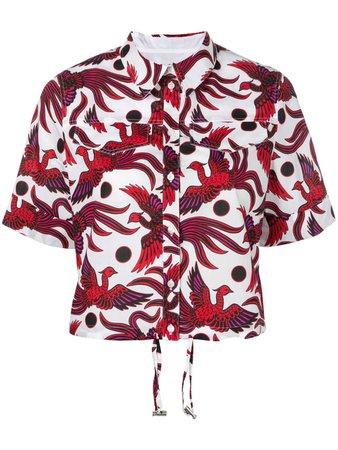 Kenzo Flying Phoenix Cropped Shirt - Farfetch