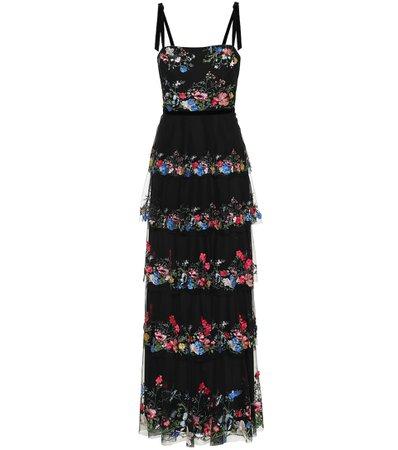 Marchesa Notte - Embellished floral tulle gown | Mytheresa
