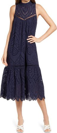 BB Dakota by Steve Madden Good to Sea You Embroidered Dress | Nordstrom