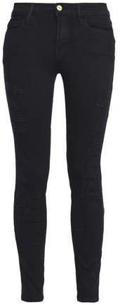 Le Color Ripped Distressed Low-rise Skinny Jeans