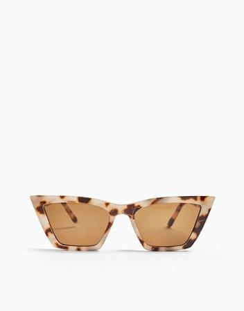 Topshop tortoiseshell cateye sunglasses in brown | ASOS