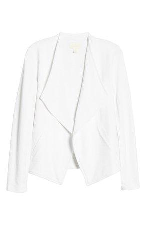 Caslon® Drape Collar Knit Blazer (Regular & Petite)   Nordstrom
