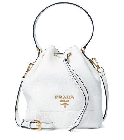 Leather Bucket Bag   Prada - Mytheresa