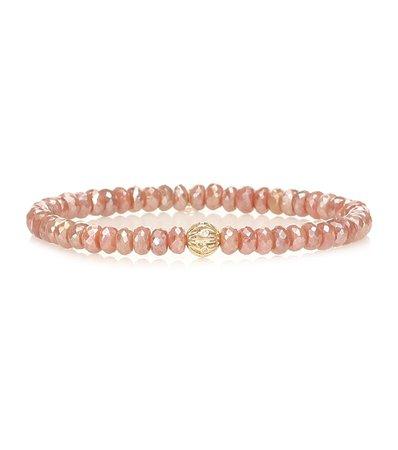Exclusive To Mytheresa – Beaded Bracelet With 14Kt Yellow Gold And Diamond Bezel - Sydney Evan | Mytheresa