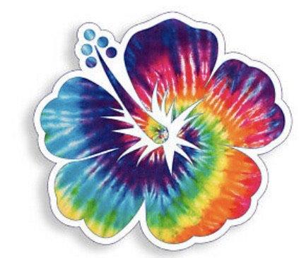tie dye flower