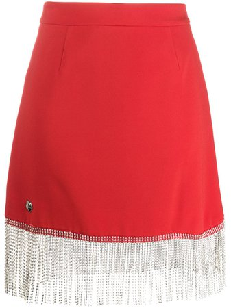 Philipp Plein Embellished Tassel Skirt - Farfetch
